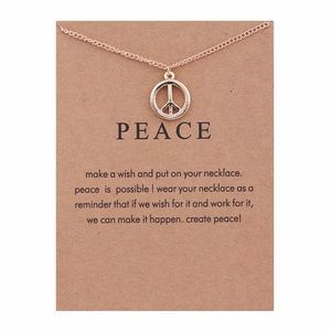 Jewelry - 4 for $25⚡️peace sign necklace